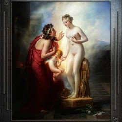 Pygmalion et Galatee byAnne-Louis Girodet-Trioson Classical Fine Art Xzendor7 Old Masters Reproductions