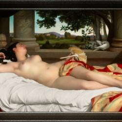 Romaine Endormie by Felix-Auguste Clement Classical Fine Art Xzendor7 Old Masters Reproductions
