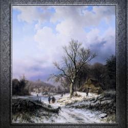 Snow Landscape by Alexander Joseph Daiwaille Classical Art Xzendor7 Old Masters Reproductions
