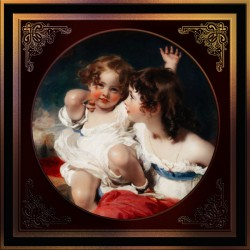 Nature - The Calmady Children by Sir Thomas Lawrence Classical Fine Art Xzendor7 Old Masters Reproductions