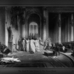 The Death Of Julius Caesar In The Roman Senate Engraving by James Charles Armytage Classical Fine Art Xzendor7 Old Masters Reproductions