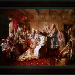 The Russian Brides Attire by Konstantin Makovsky Classical Fine Art Xzendor7 Old Masters Reproductions