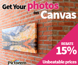 15% Rebate on Photos to Canvas Printing by Pictorem Canvas Print