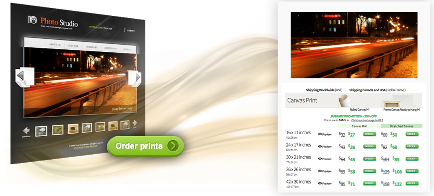 printing service for webmaster