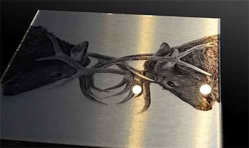 Époxy print, époxy métal, époxy impression métal brossée