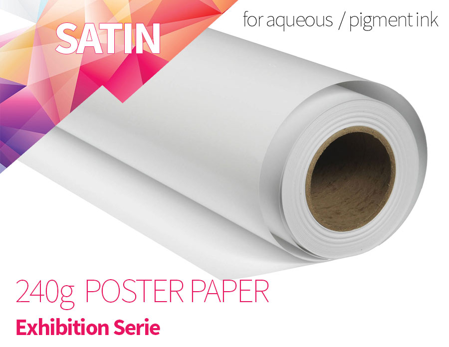 Satin Photo Paper RC 240g - Exhibition Serie 60 inch x 30 meters for Aqueous Inkjet