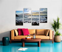 4 Steps Stretched Split Canvas Print Canvas print