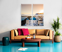 4 Cube 24x24  Stretched Split Canvas Print Impression sur toile