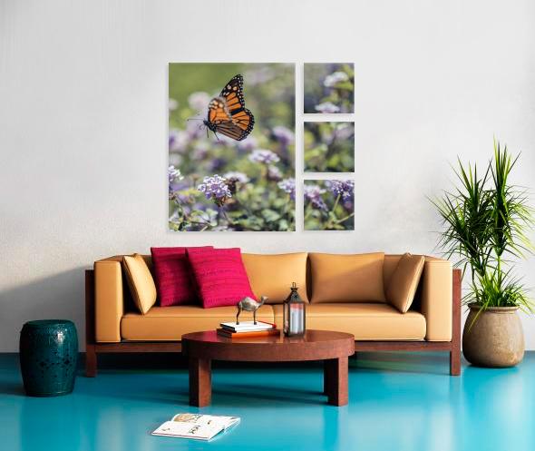 4 Asymetric 30x40 & 12x12  Stretched Split Canvas Print Impression sur toile