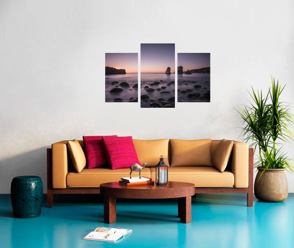 3 Cross Stretched  Split Canvas Print Canvas print
