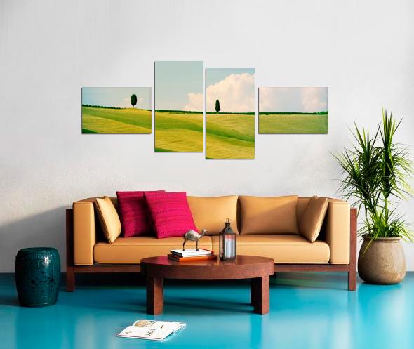 4 Cross Stretched Split Canvas Print Impression sur toile