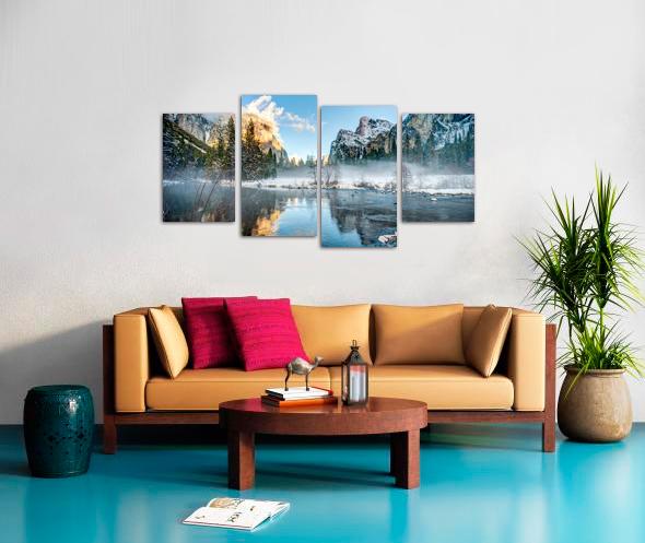 4 Parallels Stretched Split Canvas Print Canvas print