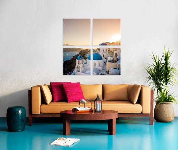 4 Cube 20x20  Stretched Split Canvas Print Impression sur toile