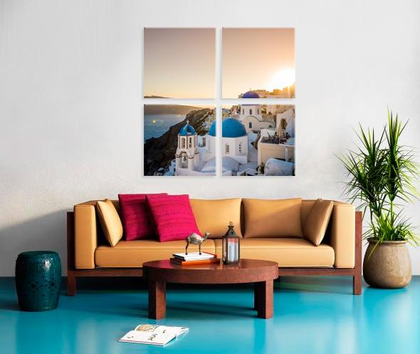 4 Cube 24x24  Stretched Split Canvas Print Impression sur toile