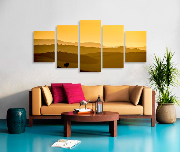 Diamond 5 panels Stretched Split Canvas Print Canvas print