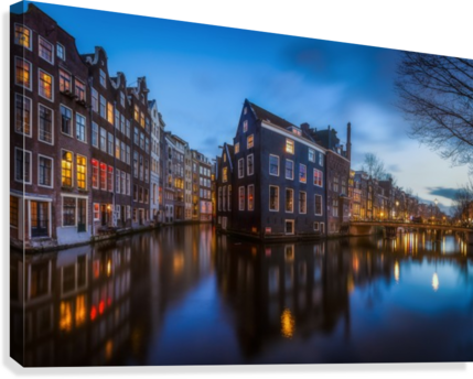 Blue Amsterdam  Canvas Print