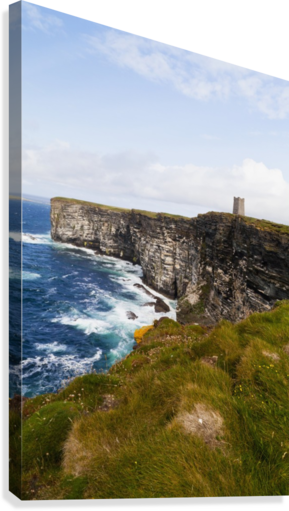 Marwick Head RSPB Nature Reserve, Kitcheners Monument; Orkney, Scotland  Canvas Print