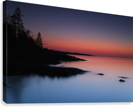 Dawn over the North Shore of Lake Superior, near Duluth; Minnesota, United States of America  Canvas Print