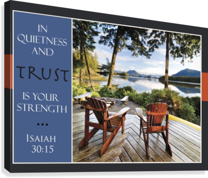 ... Two Adirondack Chairs On A Deck Looking Out Over Jensen Bay, With A  Scripture Verse ...