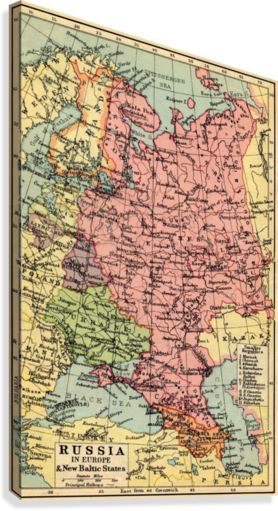 1930s Map Of Europe.A 1930 S Map Of Russia In Europe And The New Baltic States