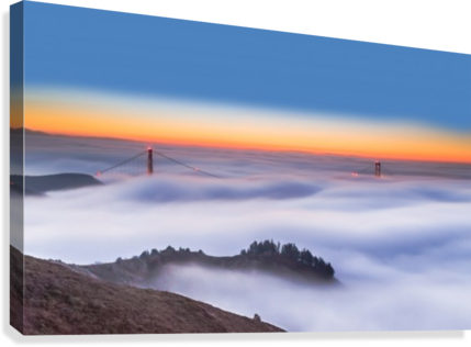 The Golden Gate Bridge in the Fog  Canvas Print