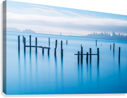 The Old Pier of Sausalito  Canvas Print