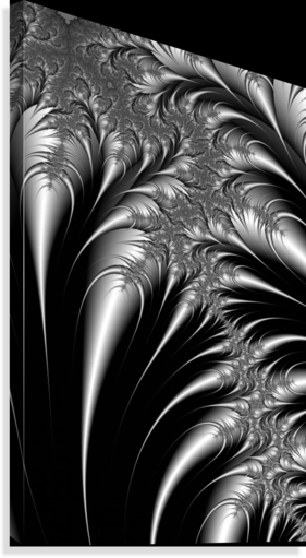 Silver And Black Abstract Pacificstock Canvas Artwork
