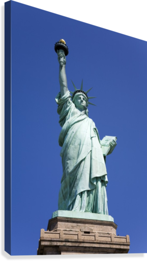 Statue Of Liberty, Lower Manhattan, New York City, New York, Usa  Canvas Print