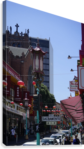 Snapshot in Time Chinatown 2 @ San Francisco  Canvas Print