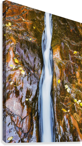 Water flowing in beautiful stone rivet along the subway trail in zion national park;Utah, united states of america  Canvas Print