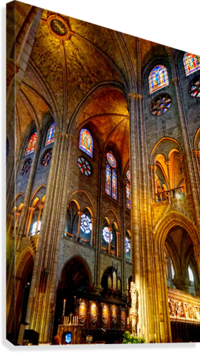 Jeanne d Arc and Saint Croix Cathedral at Orleans   France 3 of 7  Canvas Print