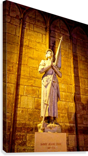 Jeanne d Arc and Saint Croix Cathedral at Orleans   France 4 of 7  Canvas Print