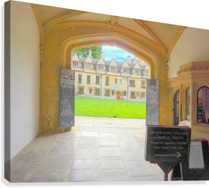 Snapshot in Time Presents a Visit to Oxford 4 of 8  Canvas Print