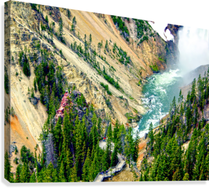 Mighty Yellowstone 3 - Grand Canyon of the Yellowstone River - Yellowstone National Park  Canvas Print