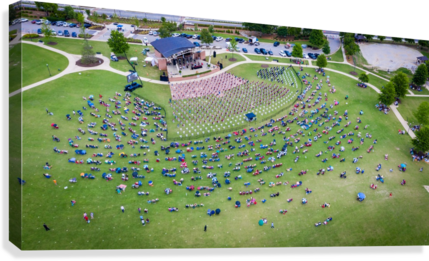 Lakeside High Class of 2020   Graduation Aerial View 0728 05 30 20  Canvas Print
