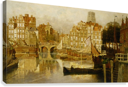 A view of the Blaak Rotterdam  Canvas Print