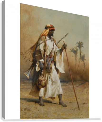 A warrior scouring the land  Canvas Print