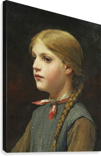 A young girl  Canvas Print