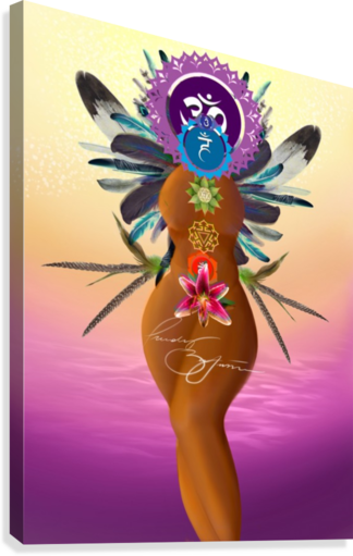 CHAKRA QUEEN AFROCENTRIC PAINTER  Canvas Print