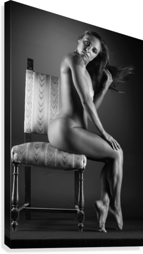 Naked_woman_young_nude_bodyscape  Canvas Print