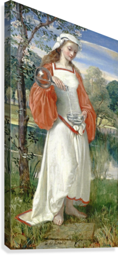 Allegorical Maiden in white dress  Canvas Print