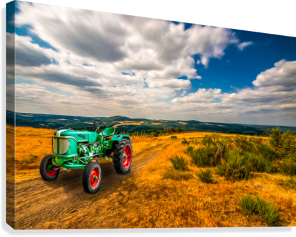 My Green Tractor  Canvas Print
