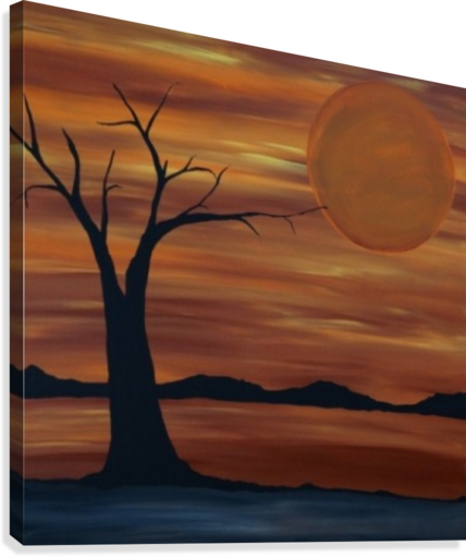 Ares tree acrylic painting  Canvas Print