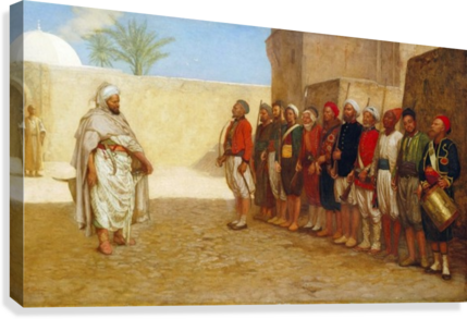 Army Reorganisation in Morocco 1872  Canvas Print