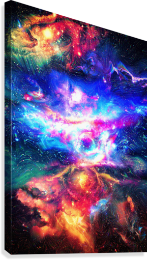 Colorful Galaxy   Canvas Print