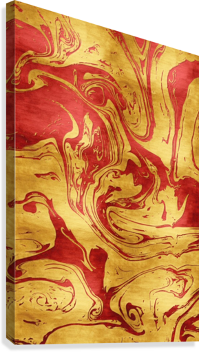 Red Dragon Marble  Canvas Print