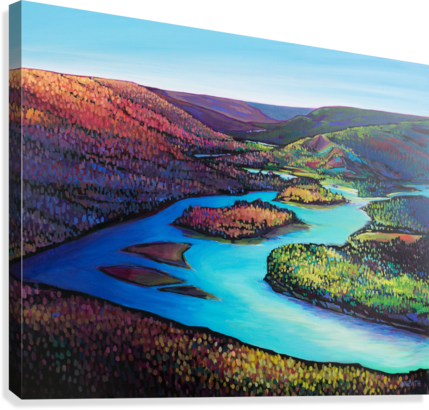 Fall Arrives at Peace River  Canvas Print