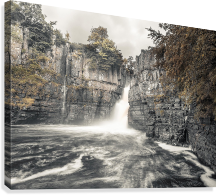 High Force waterfall, North Pennines, Yorkshire, UK  Canvas Print