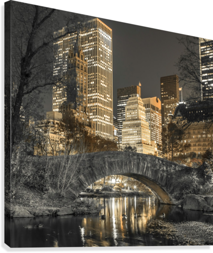 Evening view of Central Park in New York City  Canvas Print