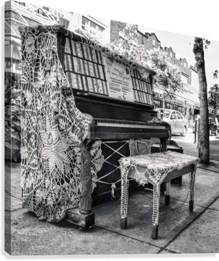 Street Piano  Canvas Print